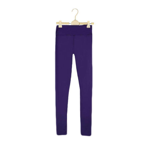 Fashion Women Leggings Fitness Candy Color Elastic Waist Stretchy Yoga Sport  Running Pants Trousers gallery 11