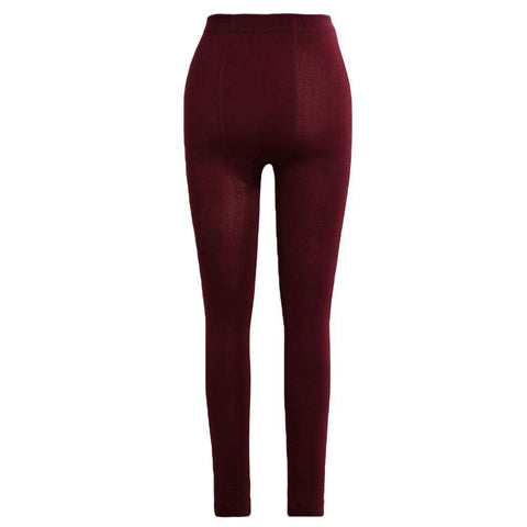 Sexy Women Autumn Winter Leggings Solid High Elastic Waist Thick Warm Tights Bodycon Pants gallery 9