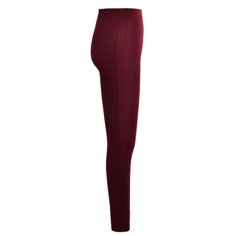 Sexy Women Autumn Winter Leggings Solid High Elastic Waist Thick Warm Tights Bodycon Pants gallery 7