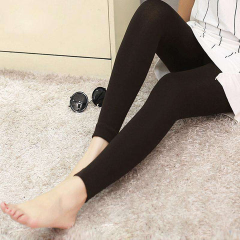 Sexy Women Autumn Winter Leggings Solid High Elastic Waist Thick Warm Tights Bodycon Pants gallery 1