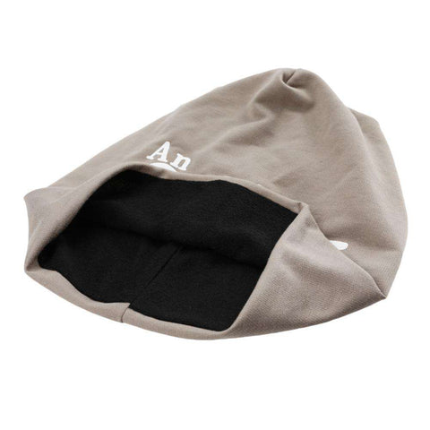 New Fashion Unisex Beanie Wrap Hat Letter Print Candy Color Sleep Turtleneck Cap gallery 5