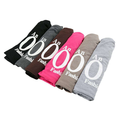 New Fashion Unisex Beanie Wrap Hat Letter Print Candy Color Sleep Turtleneck Cap gallery 10