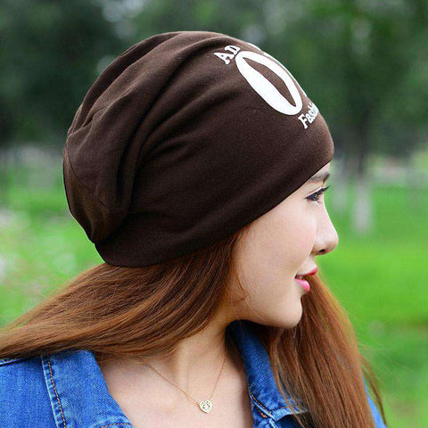 New Fashion Unisex Beanie Wrap Hat Letter Print Candy Color Sleep Turtleneck Cap gallery 7