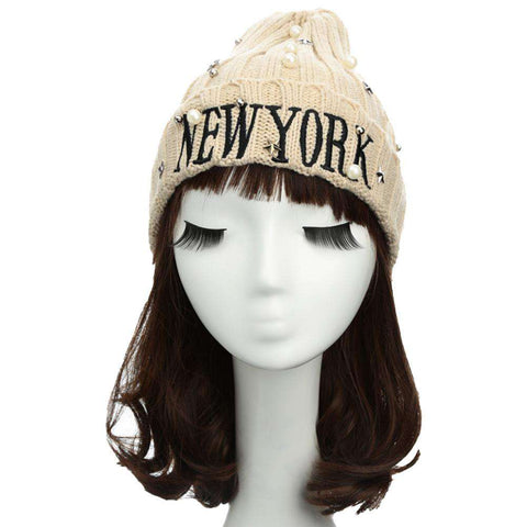 New Unisex Women Men Beanie Hat Letter Embroidery Pearl Star Solid Warm Hip-Hop Cool Knitted Cap Headwear gallery 16