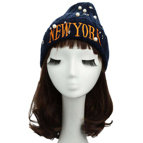 New Unisex Women Men Beanie Hat Letter Embroidery Pearl Star Solid Warm Hip-Hop Cool Knitted Cap Headwear gallery 1