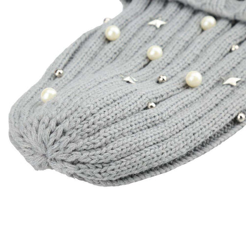 New Unisex Women Men Beanie Hat Letter Embroidery Pearl Star Solid Warm Hip-Hop Cool Knitted Cap Headwear gallery 14