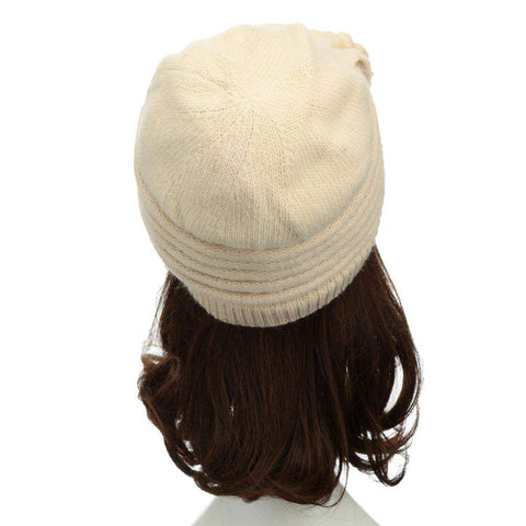 New Fashion Women Knitted Hat Ruffle Ornament Many Colors Thick Warmer Cap Headwear gallery 9