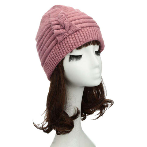 New Fashion Women Knitted Hat Ruffle Ornament Many Colors Thick Warmer Cap Headwear gallery 25