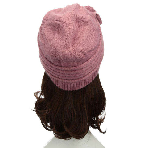 New Fashion Women Knitted Hat Ruffle Ornament Many Colors Thick Warmer Cap Headwear gallery 24