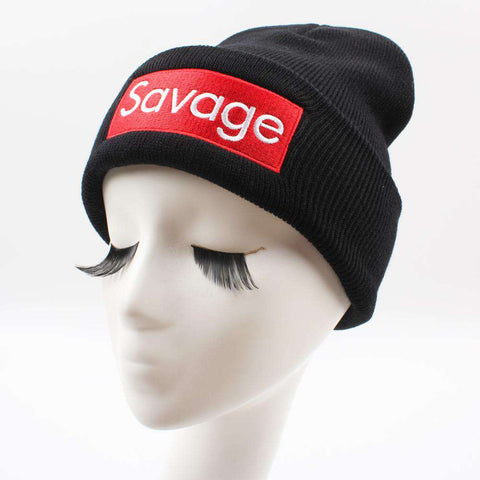 Women Men Rose Embroidery Savage Beanie Hats Embroidered Flower Knitted Caps Warm Outdoors Skullies Caps gallery 6