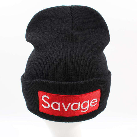 Women Men Rose Embroidery Savage Beanie Hats Embroidered Flower Knitted Caps Warm Outdoors Skullies Caps gallery 8