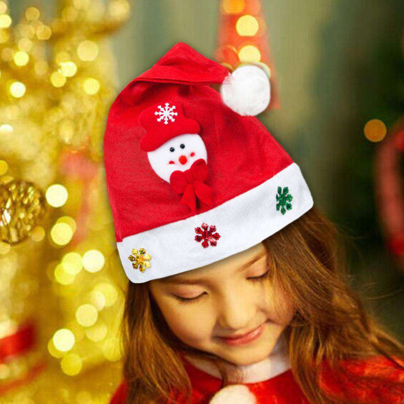 8a915f303 Kid Adult Cheer Christmas Hat Children Santa Claus Reindeer Snowman Cute  Cap Party Festival Decoration