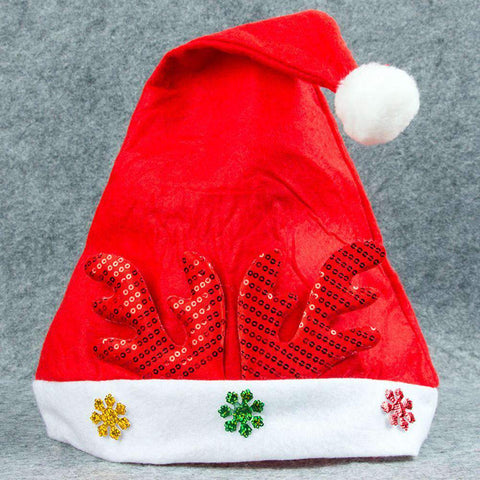 Adult Kids Christmas Hat Santa Claus Hat Antler Snowflake Family Party Cap Holiday Decoration Ornaments gallery 12
