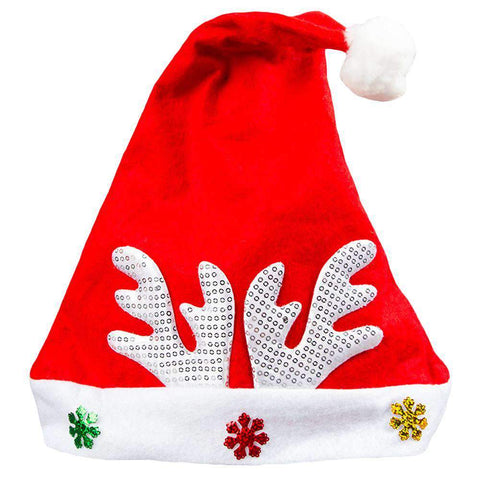 Adult Kids Christmas Hat Santa Claus Hat Antler Snowflake Family Party Cap Holiday Decoration Ornaments gallery 24