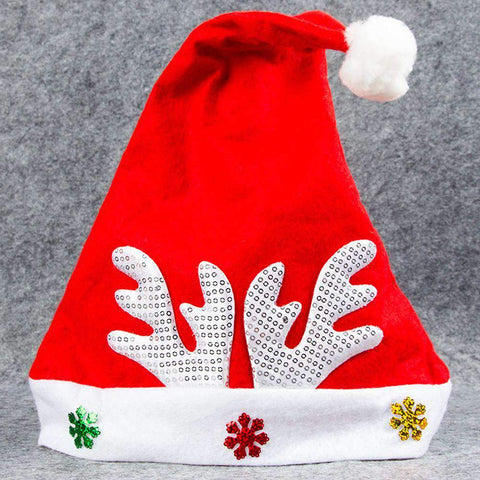 Adult Kids Christmas Hat Santa Claus Hat Antler Snowflake Family Party Cap Holiday Decoration Ornaments gallery 23