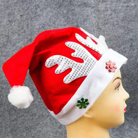 Adult Kids Christmas Hat Santa Claus Hat Antler Snowflake Family Party Cap Holiday Decoration Ornaments gallery 7