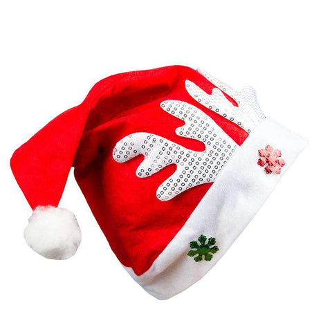 Adult Kids Christmas Hat Santa Claus Hat Antler Snowflake Family Party Cap Holiday Decoration Ornaments gallery 9