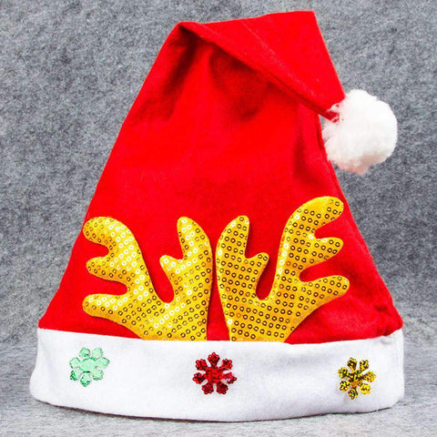 Adult Kids Christmas Hat Santa Claus Hat Antler Snowflake Family Party Cap Holiday Decoration Ornaments gallery 18