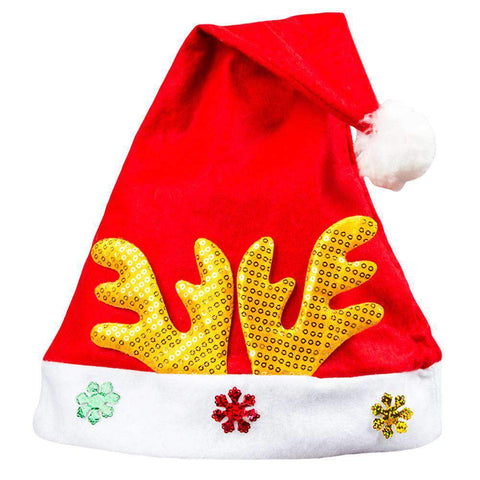 Adult Kids Christmas Hat Santa Claus Hat Antler Snowflake Family Party Cap Holiday Decoration Ornaments gallery 19