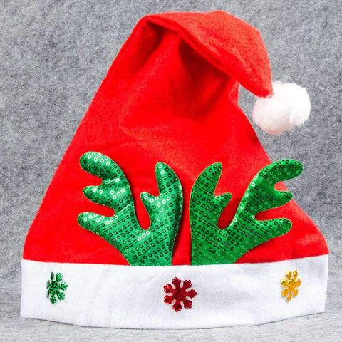 Adult Kids Christmas Hat Santa Claus Hat Antler Snowflake Family Party Cap Holiday Decoration Ornaments gallery 13