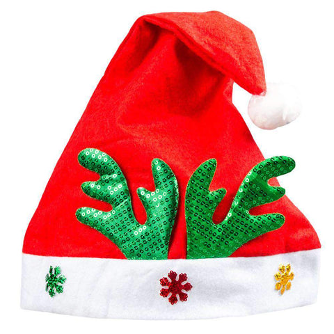 Adult Kids Christmas Hat Santa Claus Hat Antler Snowflake Family Party Cap Holiday Decoration Ornaments gallery 17