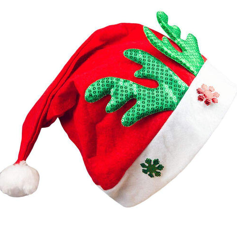 Adult Kids Christmas Hat Santa Claus Hat Antler Snowflake Family Party Cap Holiday Decoration Ornaments gallery 2