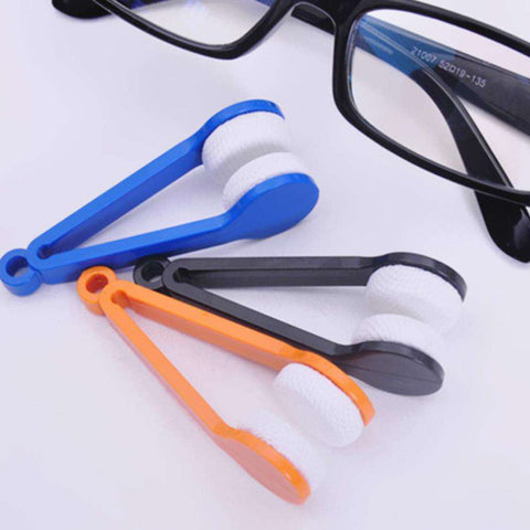 Multifunctional Portable Glasses Wipe Mini Sun Glasses Microfiber Spectacles Cleaner Soft Brush Cleaning Tool gallery 3