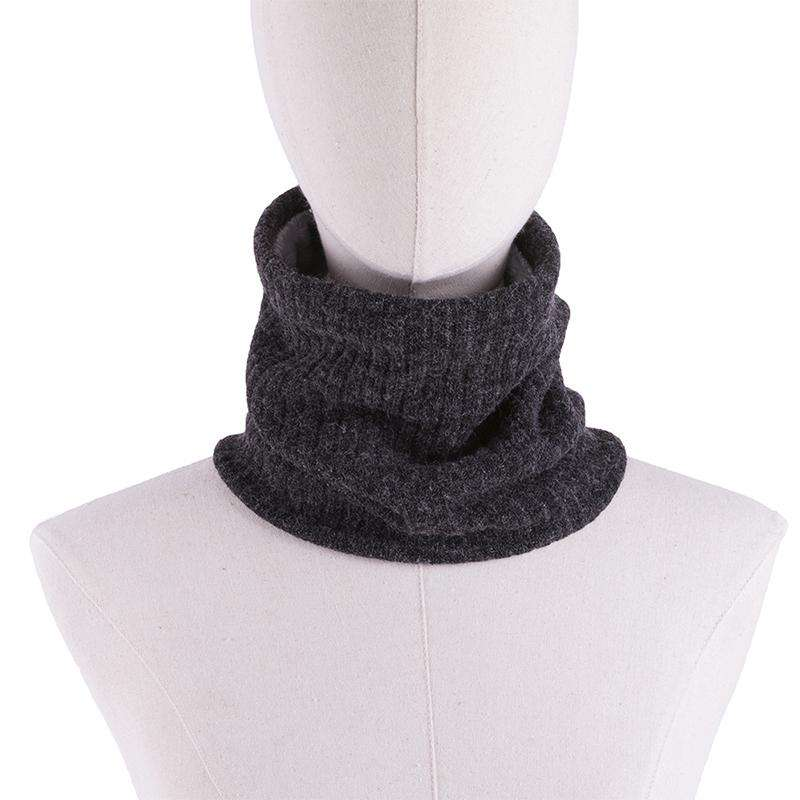 b7adcb8b Men Women Ribbed Knit Ring Scarves Furry Faux Fur Solid Color Winter Tube  Snood Scarf Neck