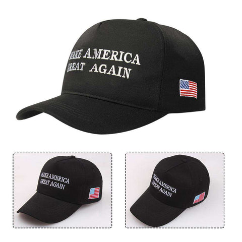 Make America Great Again Adjustable Baseball Cap with Embroidery Unisex Flag Cotton Hats Letter Sport Gorras Casquette (White Without Flag) gallery 15