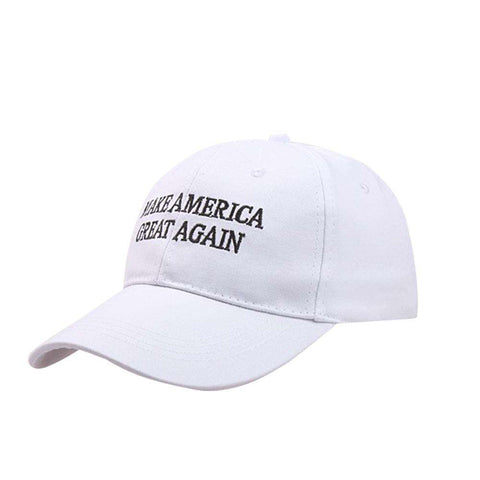 Make America Great Again Adjustable Baseball Cap with Embroidery Unisex Flag Cotton Hats Letter Sport Gorras Casquette (White Without Flag) gallery 1