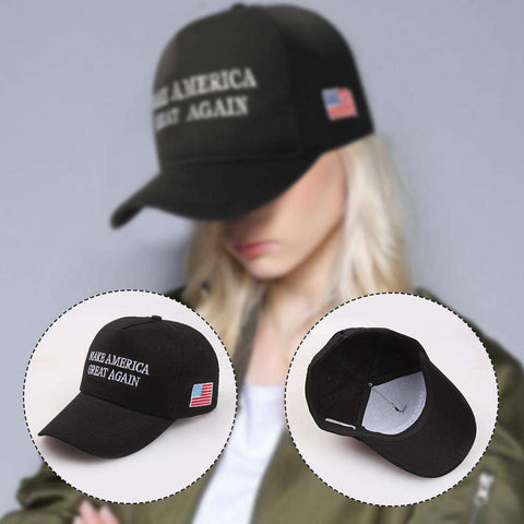 Make America Great Again Adjustable Baseball Cap with Embroidery Unisex Flag Cotton Hats Letter Sport Gorras Casquette (White Without Flag) gallery 4