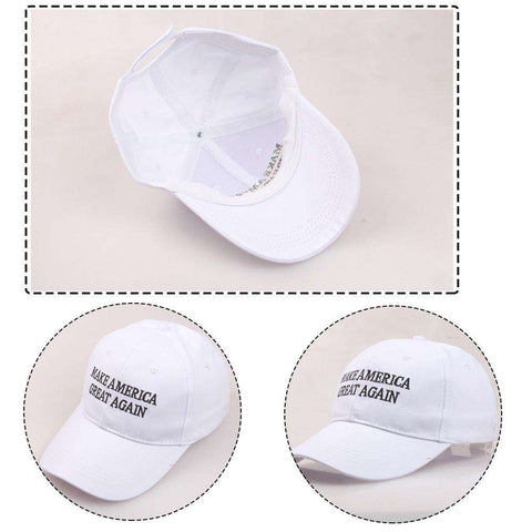 Make America Great Again Adjustable Baseball Cap with Embroidery Unisex Flag Cotton Hats Letter Sport Gorras Casquette (White Without Flag) gallery 2