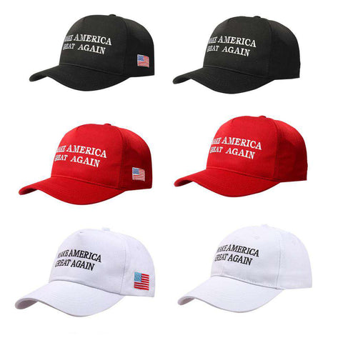 Make America Great Again Adjustable Baseball Cap with Embroidery Unisex Flag Cotton Hats Letter Sport Gorras Casquette (White Without Flag) gallery 3