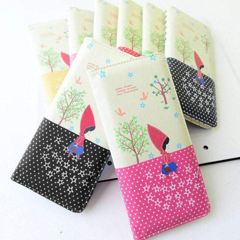 Fashion Women PU Leather Purse Little Red Riding Hood Polka Dot Wallet Candy Color Clutch Bag gallery 3