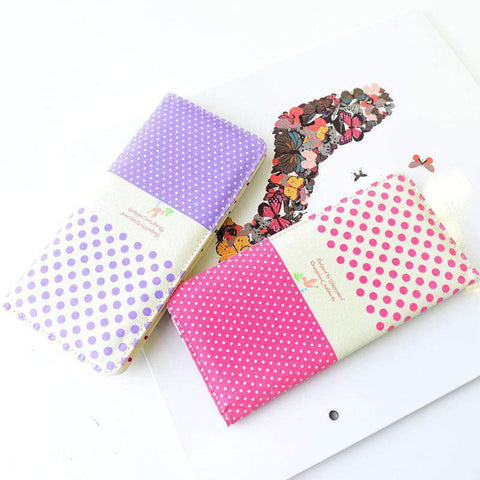 Fashion Women PU Leather Purse Little Red Riding Hood Polka Dot Wallet Candy Color Clutch Bag gallery 10