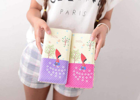 Fashion Women PU Leather Purse Little Red Riding Hood Polka Dot Wallet Candy Color Clutch Bag gallery 7