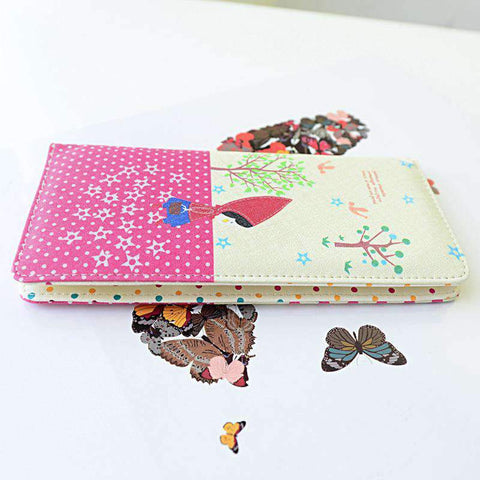 Fashion Women PU Leather Purse Little Red Riding Hood Polka Dot Wallet Candy Color Clutch Bag gallery 20