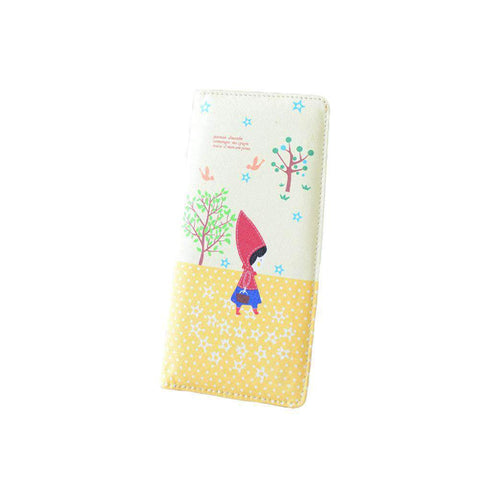 Fashion Women PU Leather Purse Little Red Riding Hood Polka Dot Wallet Candy Color Clutch Bag gallery 21