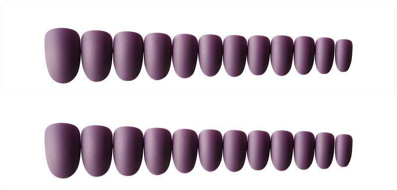 Matte Violet Magic Press On Nail Manicure
