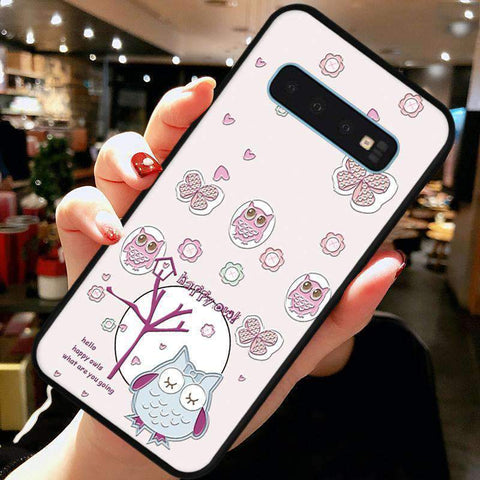 Cute Cartoon Phone Case with Ring for Samsung gallery 8