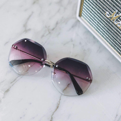 Chic Circle Shape Resin Lens With Cut Side Sunglasses gallery 6