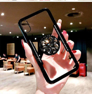 Transparent iPhone Case with Phone Holder