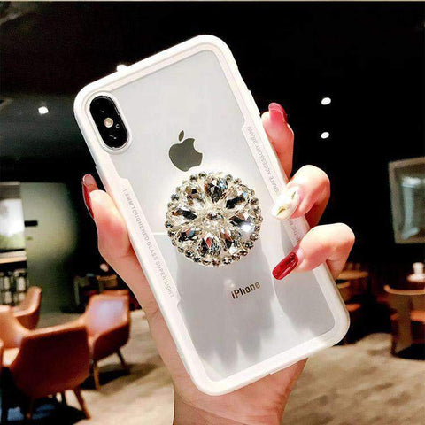 Glitter Cute Phone Case for Samsung with Diamond Phone Holder gallery 5