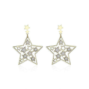 Fiver-pointed Star Drop Earrings