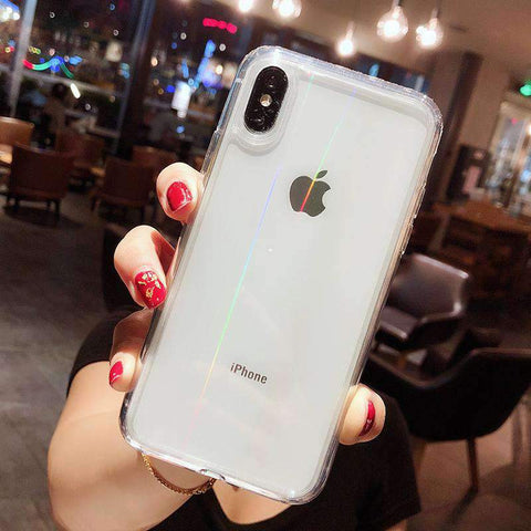 Chic Concise Transparent Phone Case for Apple iPhone