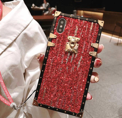 Blinking Full Cover Anti-Fall Phone Case for Samsung with Hand Strap