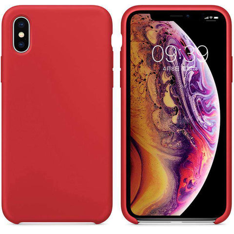 Liquid Silicone Solid Color iPhone Case for iPhone x, iPhone Xs, iPhone Xs Max
