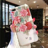 Acrylic Embossed Petals iPhone Case