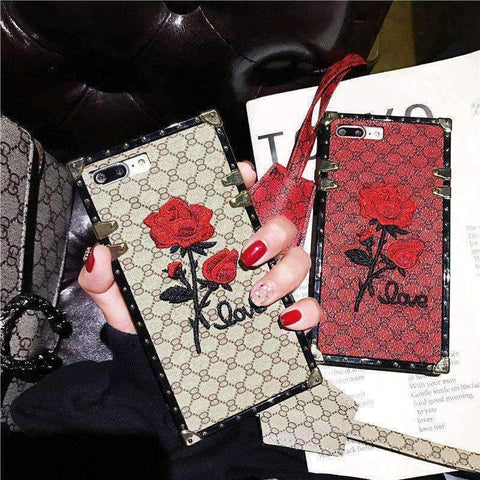 Rose Embroidered Phone Case for Samsung with Hand Strap gallery 8