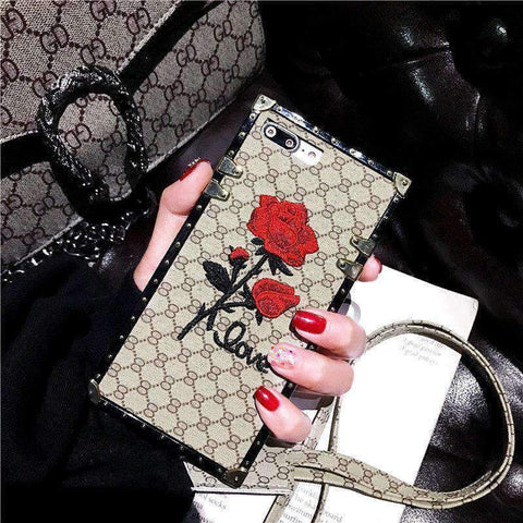 Rose Embroidered Phone Case for Samsung with Hand Strap gallery 5
